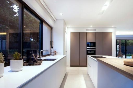 Elegant design of the kitchen