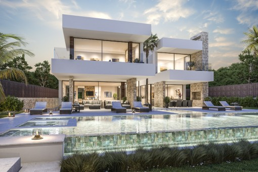 Magnificent new contemporary design villa in Guadalmina baja