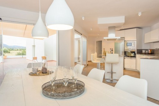 Gorgeous kitchen with access to the terrace