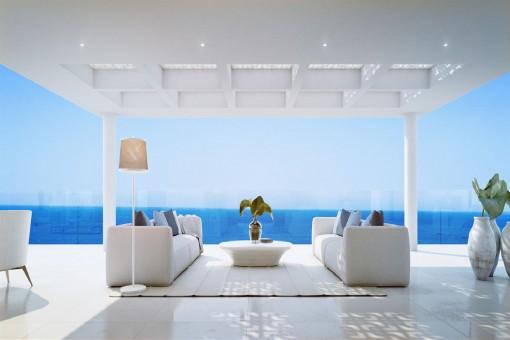 Impressive sea view terrace