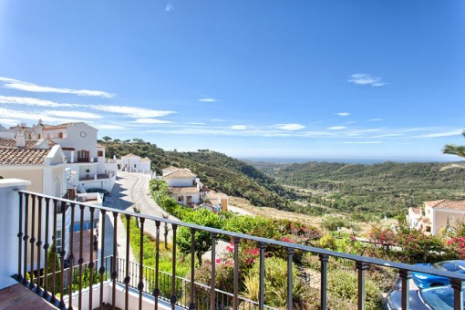 Impressive landscaoe views from the terrace