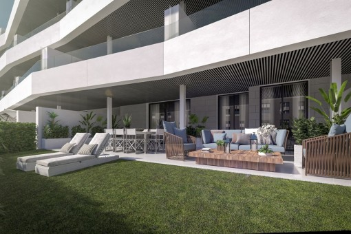 Spacious and modern ground floor Apartments in Estepona