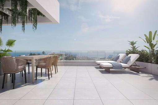 Modern Spacious Penthouse in Golf Resort