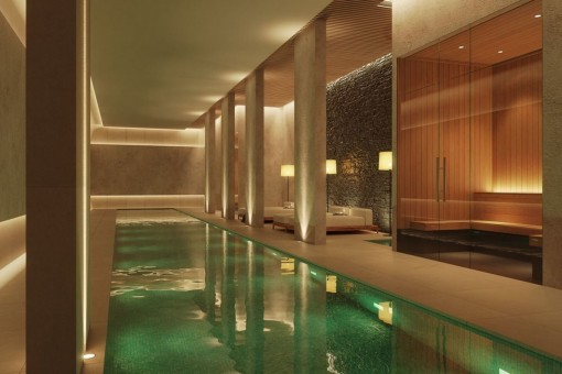 Spa area with pool