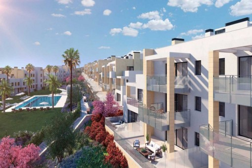 Brand new top floor apartment in gated complex with panoramic sea views in Casares