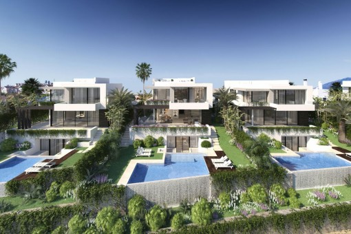 Modern design 4-bedroom, off plan villa close to the best golf courses in Benahavis area