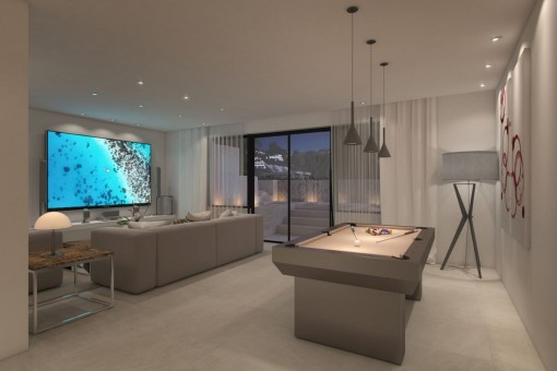 Home theater and poolroom