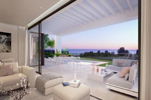 Panoramic sea views from the terrace