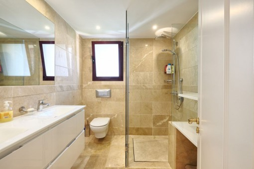 Another bathroom with daylight and shower