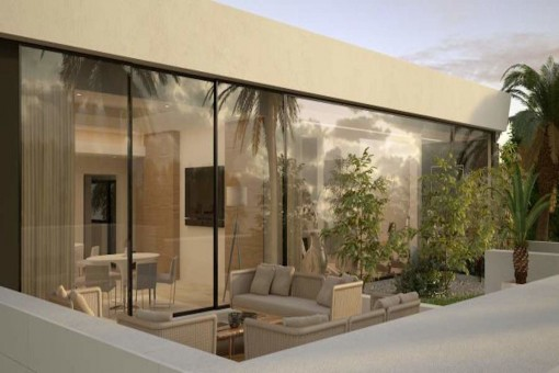 Spacious terrace with lounge area