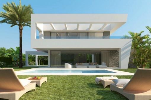 Modern design villa with pool in Marbella West