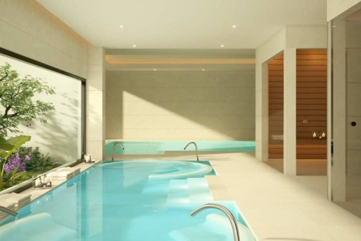 Relaxing spa area