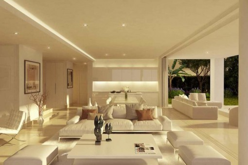 Puristic living area