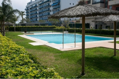Well-maintained outdoor area with pool