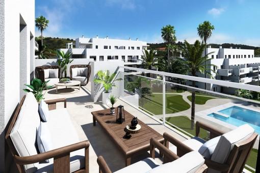 Distinctive apartments in a residential development in La Cala de Mijas, Málaga