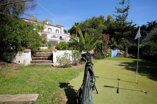Golf course in the outdoor area