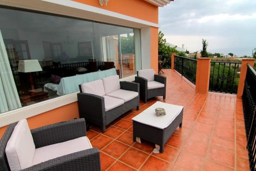 Spacious terrace with open views