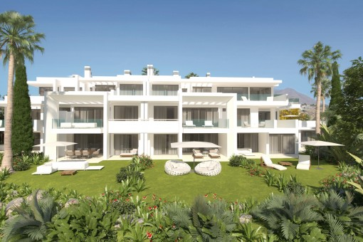 Stunning, new ground floor apartment with private Lagoon Beach Club in Casares