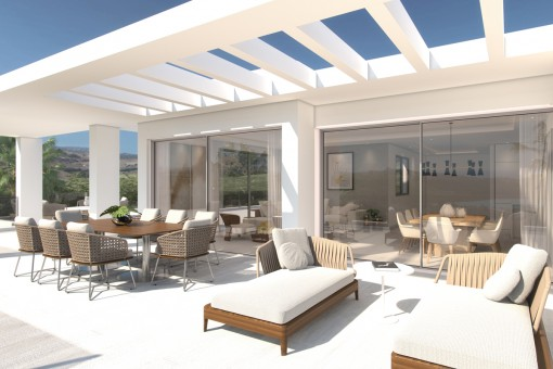 Stunning penthouse apartment with panoramic views and private beach in Casares