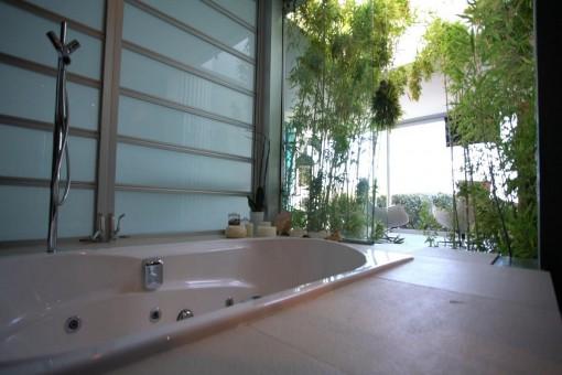 Bathroom in an idyllic environment