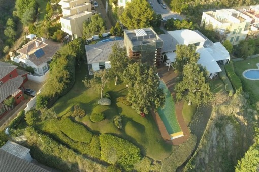 Bird's-eye-view of the property