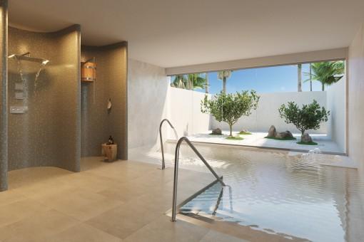 Beautiful indoor pool