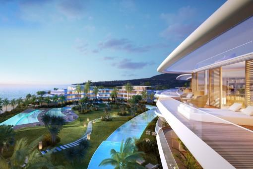 Terrace with dreamlike sea views