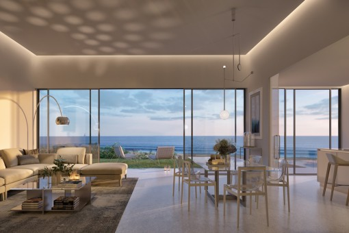 Amazing sea views from the living area