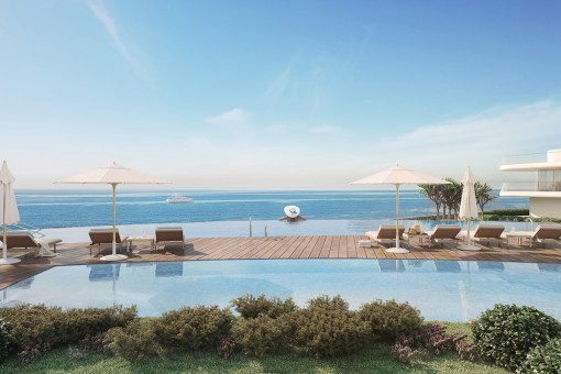 Pool area in first sea line