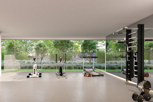 Home gym in an idyllic environment