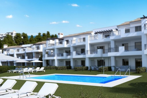 2 bedroom appartment on the first floor in La Mairena Completion July 2019