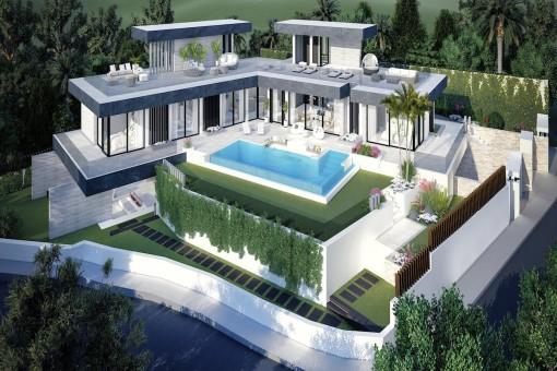 Impressive contemporary style villa in Benahavis