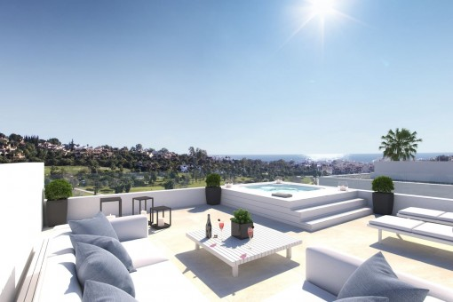 Impressive views of the roof top terrace
