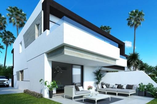 Modern villa with garden in Estepona