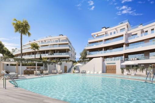 Great development with amazing views over the golf course in Mijas