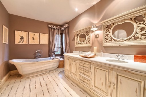 Alternative view of the Bathroom with double basin