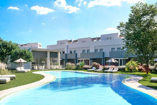 Town house in a contemporary stye with 3 bedrooms right at the golf course in the sought after area of Sotogrande, Cadiz