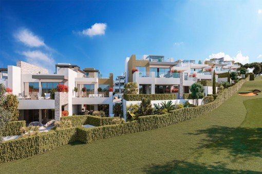 Off plan apartment with 4 bedrooms right at the golf course in Artola,  Marbella